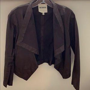 BB Dakota Faux Leather Drape Jacket